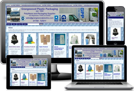 Grangewood Plastics viewed across devices