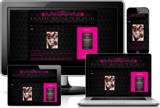 Hair Beautique viewed across devices