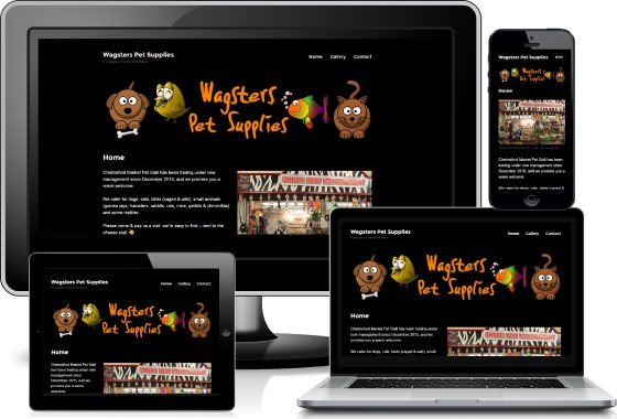 Wagsters Pet Supplies viewed across devices